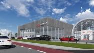 Nieuwbouw Audi werkplaats bedrijfsfunctie